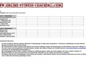 Trainingsplan Bodybuilding und Fitness
