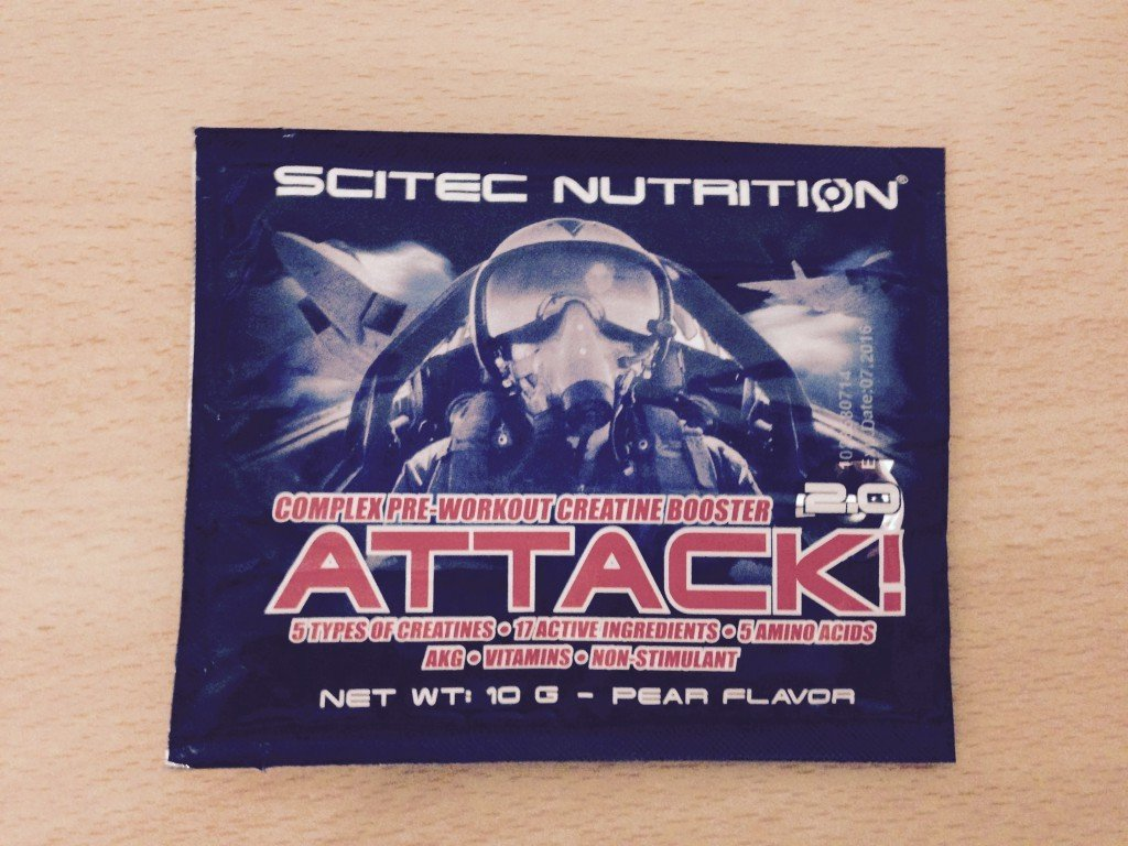 Attack! 2.0 Test Pre-Workout Booster von Scitec Nutrition im Test 1