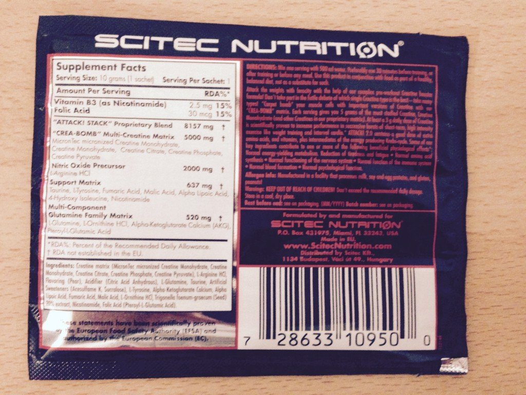Attack! 2.0 Pre-Workout Booster von Scitec Nutrition im Test 2