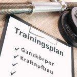 Ganzkörper Trainingsplan für Kraftaufbau