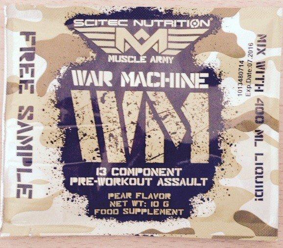 MUSCLE ARMY WAR MACHINE Pre-Workout Booster von Scitec Nutrition im Test 1