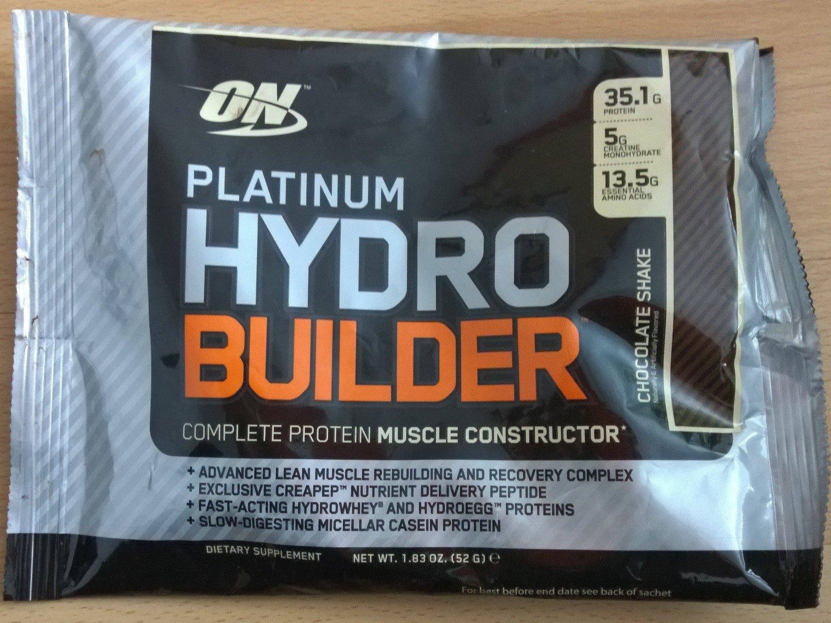 Platinum Hydro Builder test