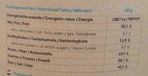 Protein Müsli Nährwerte