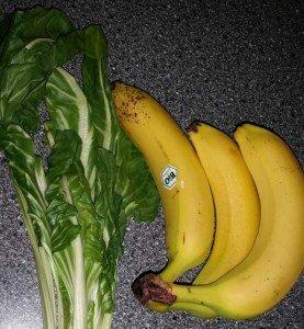 Grüne Smoothies Banane Mangold