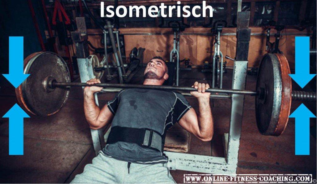 Isometrische Bewegung Krafttraining