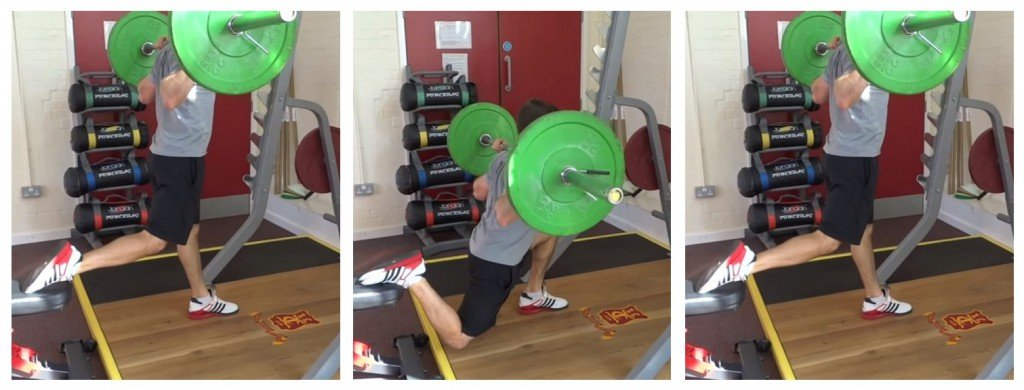 Bulgarian Split Squat Langhantel 3