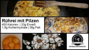 Rührei mit Pilzen Fitness Abendessen klein