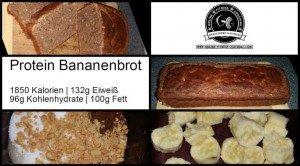 Fitness Protein Bananenbrot Rezept
