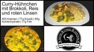 Curry-Hühnchen mit Reis und Linsen 5x