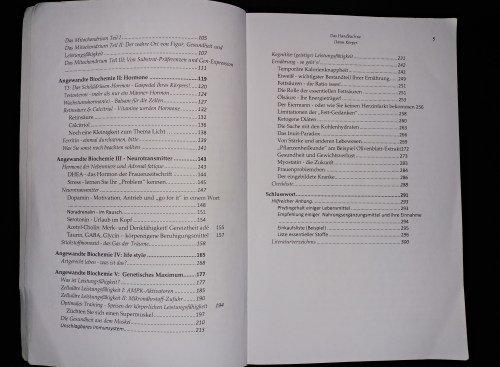 Handbuch zu Ihrem Körper Biochemie
