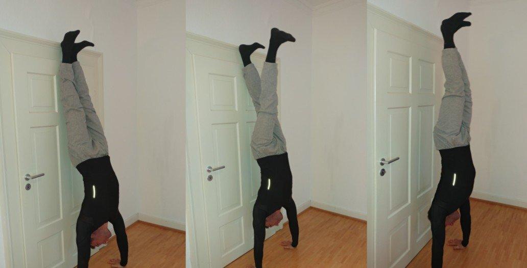 freier Handstand an der Wand