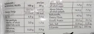 55er Proteinriegel Frey Nutrition Nährwerte