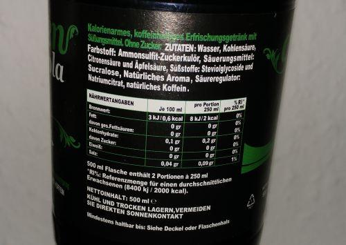 Stevia Cola Nährwerte