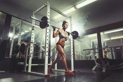 Frauen Krafttraining dicke beine