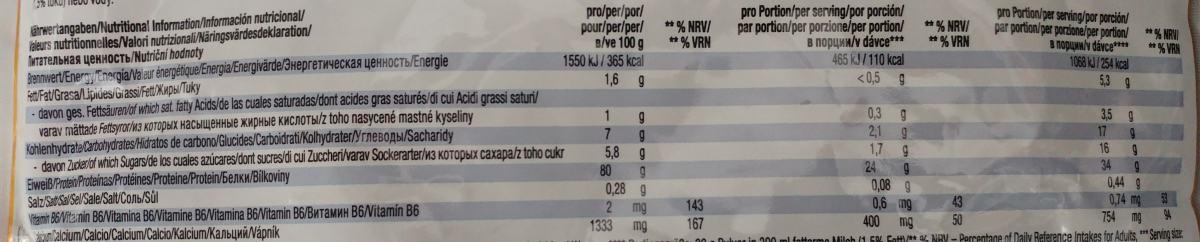 Naehrwerte Weider Protein 80 Plus