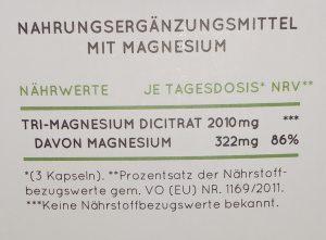 Magnesium Tagesdosis