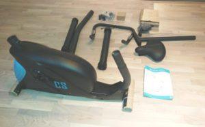 Aufbau des Ergometer-Fahrrad