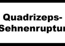 Quadrizeps Sehnenruptur